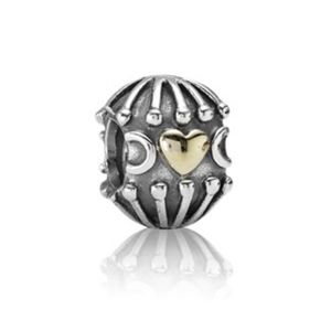 Pandora hugs and kisses charm with 14k gold